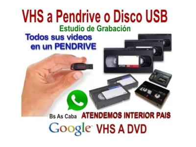 VHS Video a Pendrive o Disco Rigido.