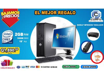 COMPUTADORAS DELL+MUEBLE+IMPRESORA CANON+REGULADOR,A TAN SOLO Q 1,890.00